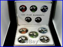 2016 10 Yuan Silver Panda (5 Coin Set) Elements Earth Fire Water Metal Wood