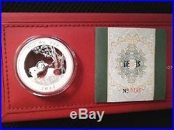 2017 Munich International Coin Show Panda China 4 pc. Set reines Silber PP proof