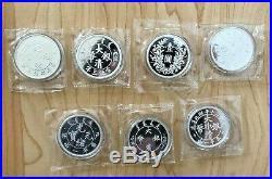 2018 2019 2020 ALL 7 COIN SET China Phoenix Dragon Restrike 1 OZ Silver SEALED
