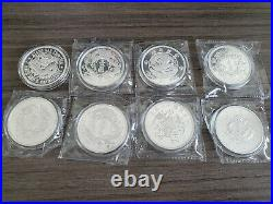 2018 2019 2020 Complete Set Eight 1oz Silver Coins China Dragon Restrike