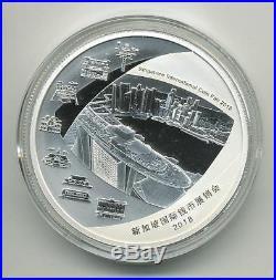 2018 China Panda Singapore Fair Show Commemorative Silver & Tri-metal 2 Coin Set
