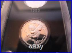 25 x 3 YUAN PANDA SET 2007, Originalkasten, CHINA, Zertifikat, JUBILÄUM 25 Jahre