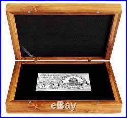 3 oz Pure Silver Coin and Bar Set 30th Anniversary of the China Panda Coin