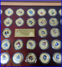 38pcs 2008 Beijing Olympic Official Mascot Coins Set Certificate & Box
