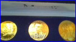 3oz gold coin monex set (1) canadian maple leaf (1) american eagle(1)schilling