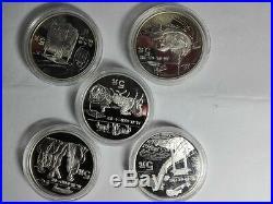 5pc china 1996 invention discovery silver coin set No Coa No Box