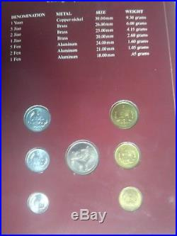 7pc Coin Sets of All Nations People's Republic of China 1981 1982
