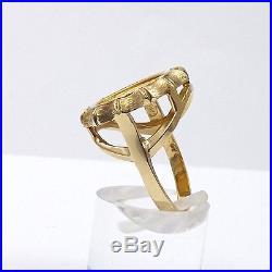 999 1/20 OZ GOLD PANDA COIN 1988 5 YUAN SET IN 14K RING Sz 7 NEW