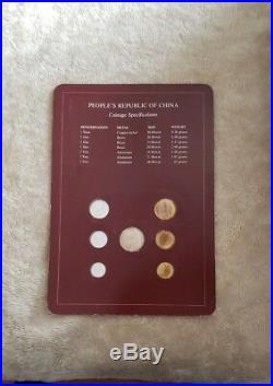 Beautiful Proof Set Coin Sets Of All Nations China All 1983 Franklin Mint