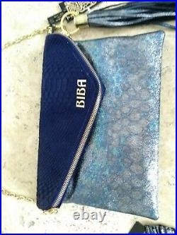 Biba Roxy Blue Bag, Coin Purse And Phone Case Set NWT £250
