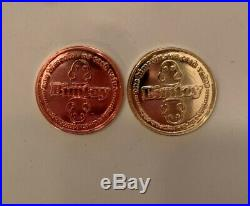 Bimtoy Tiny Ghost Coin Set (Bronze & Gold) Bimcoin Rare HTF