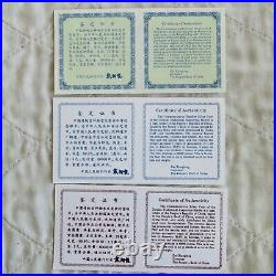CHINA 1997 MILLENNIUM 3 X 5 YUAN LUCKY SILVER COIN SET WITH PIEDFORT complete