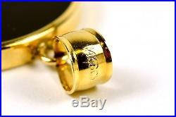 China 1/10 1/20 oz 999 Gold Panda Coins in 14k Onyx Bezel Pendant Earrings Set