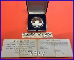 China 10 Yuan 1985 Oso Panda @mega Rare@ Silver Proof Coin Set & Coa Plata