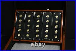 China 1982-2007 Panda 25th Anniversary Set of 1/25th OZ Gold Proof 25 Coins