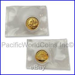 China 1987P Panda Gold Proof Coins 5pc set SKU#7497