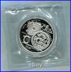 China 1998 Chinese Dragon Culture Silver Coin 1st Set 1oz 10 Yuan COA