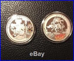 China 2008 Beijing Olympic Coin Series 3 (6) Coin Gold & Silver Set