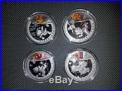 China 2008 Beijing Olympic Games Silver 4-Coin Set Series I