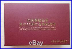 China 2017 Gold + Silver Coins Set 35th Anni. Of Issuance of Panda Gold Coin