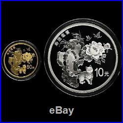 China 2018 Gold and Silver Coins Set-Chinese Auspicious Culture-Shou Ju Mao Die