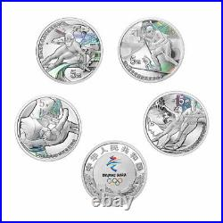 China 2020 Beijing 2022 Winter Olympic Games I Colored Silver Proof Coin Set
