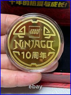 China 2021 LEGO Ninjaga Legacy 10th Anniversary Fire Ninjia Coin