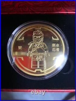 China 2021 LEGO Ninjaga Legacy 10th Anniversary Ice Ninjia Coin