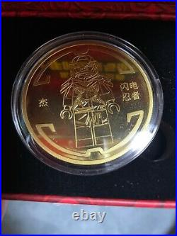 China 2021 LEGO Ninjaga Legacy 10th Anniversary Lightning Ninjia Coin