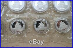 China 35x5g Solid Silver Panda Medals Set 35th Issue of Gold Panda Coins