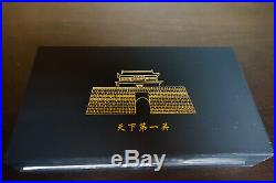 China Coin MIB Great Wall 1 Kilo Copper & Brass 375th Anniv Medal Set NGCGU Cert