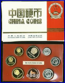 China Coin set 1982 (Year of the Dog) Proof