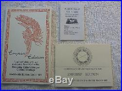 China Coins of Invention & Discovery Empress Edition Gold Silver Proof Set withCOA