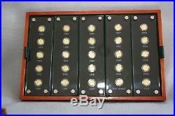 China Gold Panda 25th Anniversary 1982-2007 Coin Sets w. /Box & COA #14078/18000
