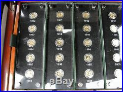 China Gold & Silver Panda 25th Anniversary 1982-2007 2 Coin Sets withBoxes & COAS