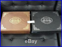 China Gold & Silver Panda 25th Anniversary 1982-2007 coin sets w. Box and papers
