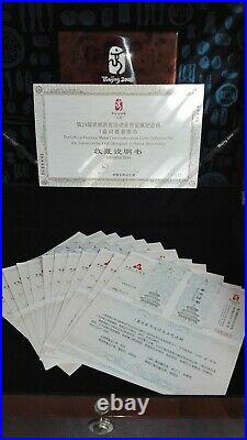 China Olympische Silber Münzen(The Coins Collection is Limited to 20.000 Sets)