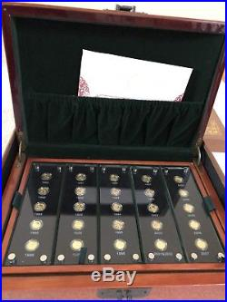China Panda Set, 25th Anniversary Gold 25 Coin Chinese set 1982 to 2007, 15 Yuan