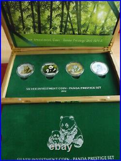 China Silver Investment CoinPanda Prestige Set 20124x10 Yuan (4x1 Oz)(Schr.)