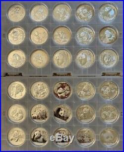China Silver Panda Set 1989 -2019 31 Coins Compete Bu Date Set