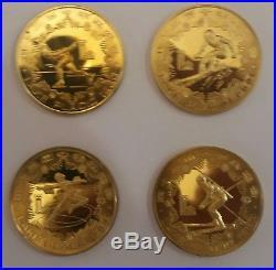 China yuan 1980 Winter Olympics lot of 4 coins UNC RARE SET