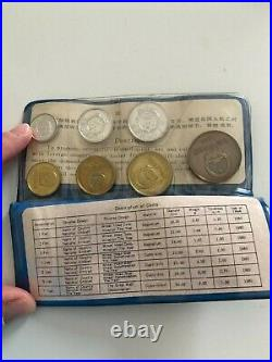 Chinese coins 1980 set of 7 The People's Bank of China