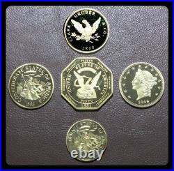 Civil War Replica Coins FIFTEEN SETS FOR A TOTAL OF 75 COINS
