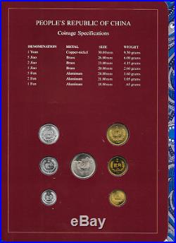 Coin Sets of All Nations China withcard 1981-1983 UNC 2 Jiao 1981 1 Fen 1983 PROOF