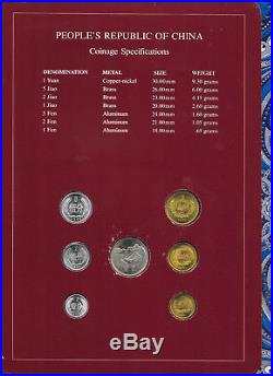 Coin Sets of All Nations China withcard 1981-1983 UNC 5 Fen 1983 1 Fen 1981 PROOF