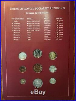 Franklin Mint Coin Sets Of All Nations Complete Set 174 Sets China, Ussr