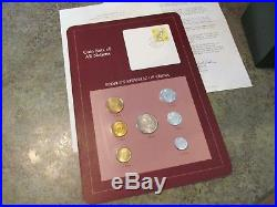 Franklin Mint Coin Sets of All Nations Vol 1-3 65 Cards Includes Republic China