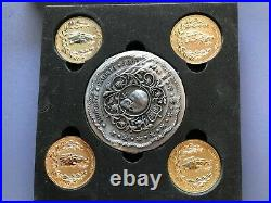 John Wick 2 Blood Oath Marker & 4 Gold Continental Coins Set. Fully Licensed