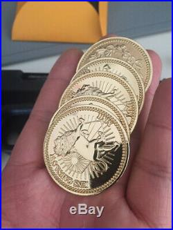 John Wick 2 Version Gold Coin Collection Role Play Cos Blood Oath Marker Replica