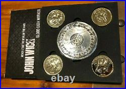 John Wick Chapter 2 Blood Oath Marker and Coin Set Chronicle Collectibles